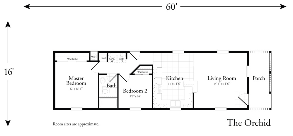 2 bdr manufactured home floor plan home design