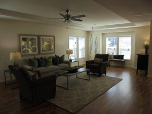 open living space in manufactured home