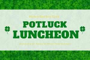 Potluck Luncheon