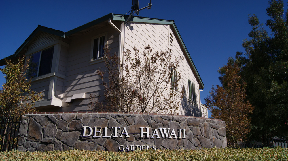 Delta Hawaii Gardens Sign