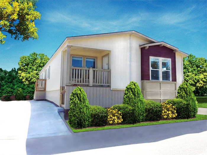 Lily model manufactured home rendering