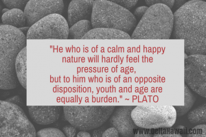 calm and happy lifestyle Plato